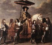 LE BRUN, Charles Chancellor Sguier at the Entry of Louis XIV into Paris in 1660 sg oil painting reproduction